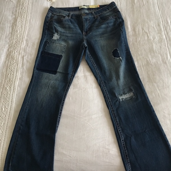 2112e68368 Faded Glory Jeans | Nwt Distressed Bootcut | Poshmark